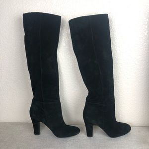 Jessica Simpson Black Suede Tall Boots sz 7